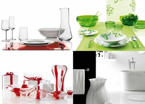 Guzzini: piatti, bicchieri, illuminazione a led