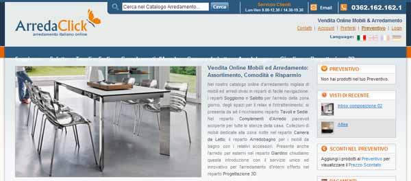 Latest acquistare mobili online intervista ad arredaclick for Mobili acquisto on line