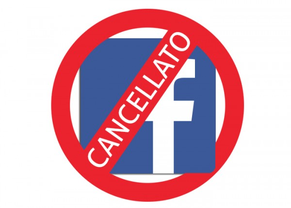 Come cancellarsi da Facebook