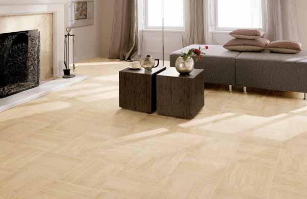 Pavimento in grès effetto legno ed effetto marmo