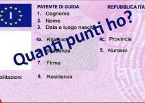 Come controllare i punti della patente