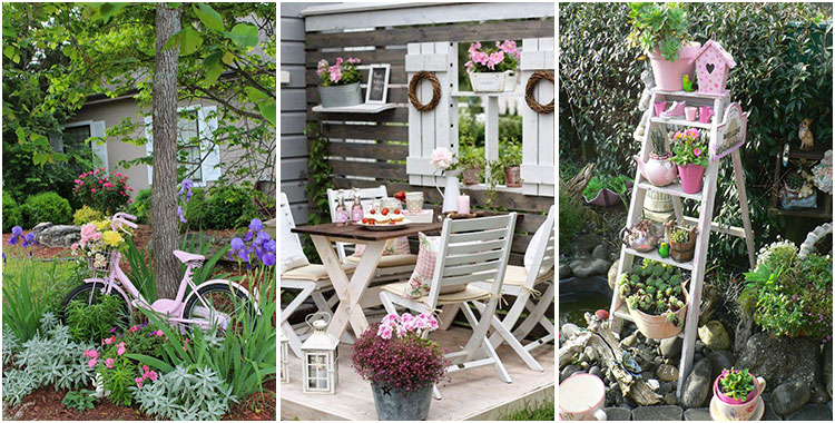 Il giardino in stile Shabby Chic