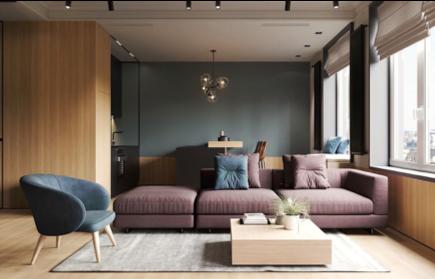 salotto in stile moderno contemporaneo