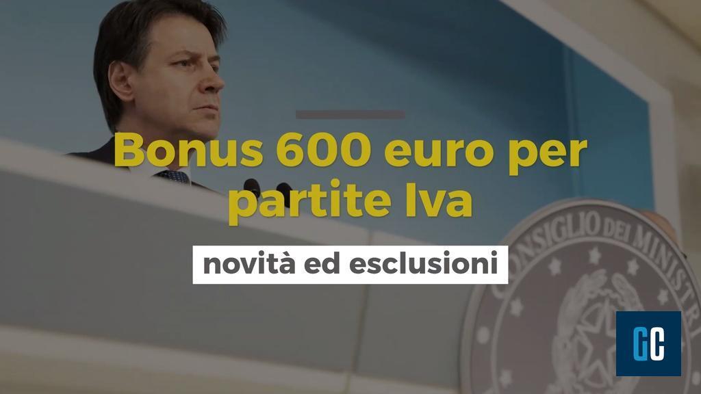bonus di 600 euro per partite IVA